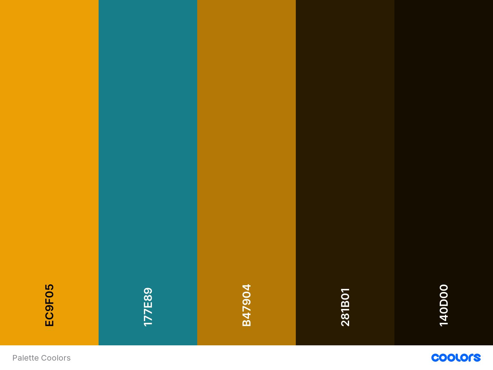 Palette de couleurs d'une charte graphique