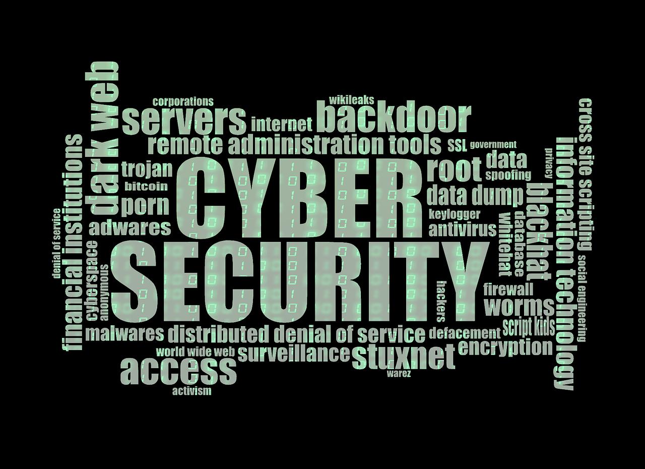 Nuage de mots pour la cyber sécurité